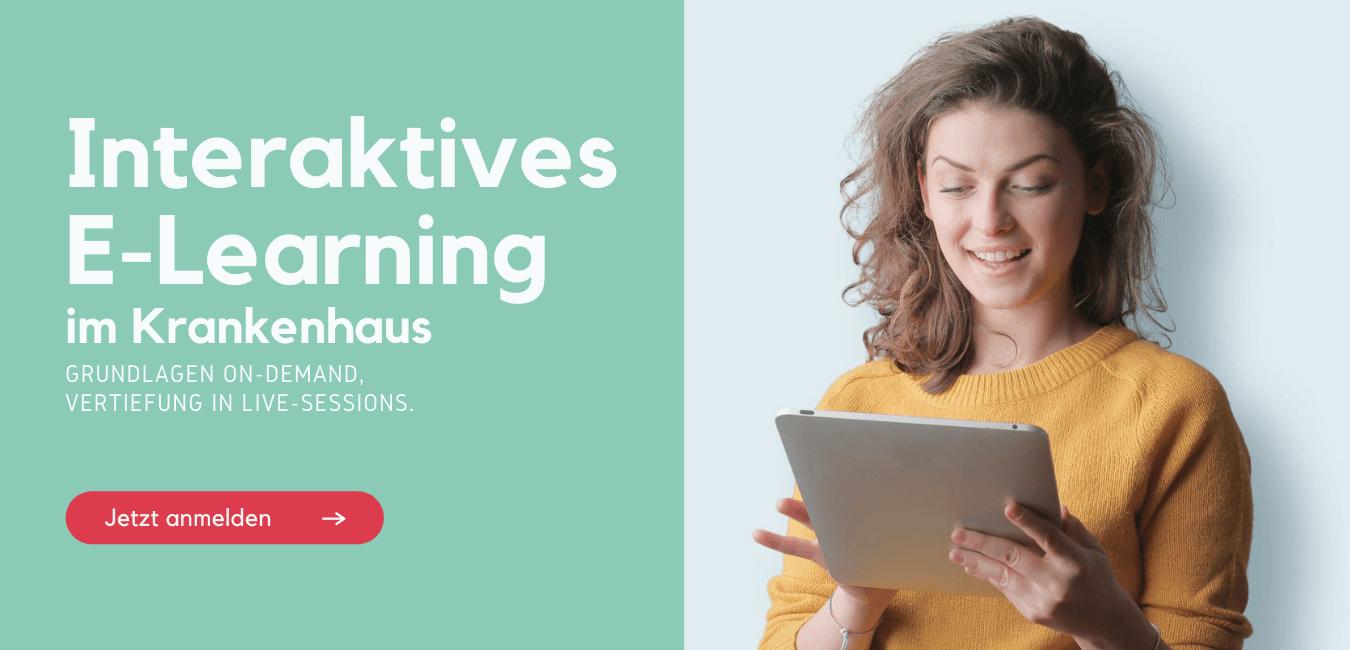 Interaktives E-Learning im Krankenhaus Management-Weiterbildung